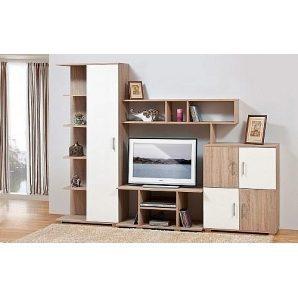 Стенка для гостиной Мир мебели Виннер 3 258x187x47 см дуб Сонома/мокка лак