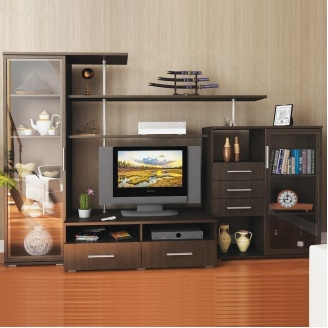 Гостинная Мебель-Сервис Нео-2 1820х2650х588 мм венге темный