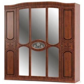 Шкаф Милано Мебель-Сервис 5Д 2150х2265х560 мм вишня