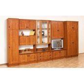 Стенка для гостиной Мир мебели Виктория 405x208x54 см орех