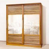 Шкаф-купе Мир мебели Монтре 2Д 200x230x63 см старый дуб/макасар