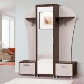 Прихожая Мир мебели Дуэт 155x196x39 см темный венге/светлый венге