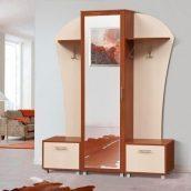 Прихожая Мир мебели Дуэт 155x196x39 см яблоня/светлый венге