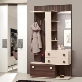 Прихожая Мир мебели Соната 120x223x41 см дуб Борас/светлый венге
