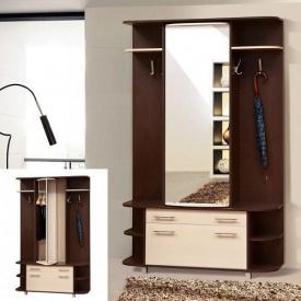 Передпокій Світ меблів Пріма 135x211x41 см темний венге/світлий венге