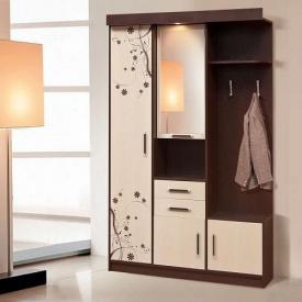 Передпокій Світ меблів Силует 1 130x209x47 см темний венге/світлий венге