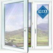 Окно VEKA металлопластиковое белое
