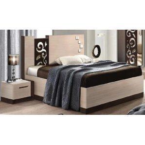 Кровать Мастер Форм Сага 1850х2100х1100 мм венге темный/дуб молочный