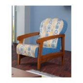 Кресло мягкое Мебель Прогресс Хит 885x821x580 мм синее