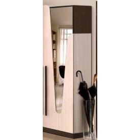 Шафа Майстер Форм Ар'я 550х380х1950 мм з дзеркалом венге темний/дуб молочний