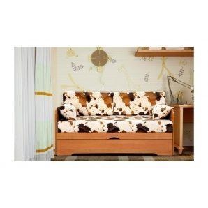 Диван детский Мебель Прогресс Малютка 1440x780x720 мм коричневый