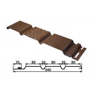 Софіт Welltech С2 3600х257 мм вертикальний темно коричневий