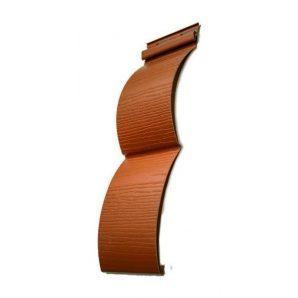 Горизонтальная панель Welltech Blockhouse С-3Б 3600х360 мм светло коричневая
