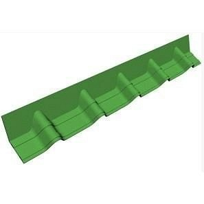 Покрівельній фартук Onduvilla 1020х140 мм зелений 3D