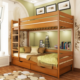 Ліжко двоярусне Естелла Дует 105 80x190 см масив