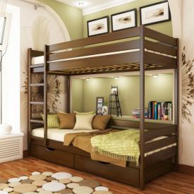 Ліжко двоярусне Естелла Дует 101 80x190 см масив