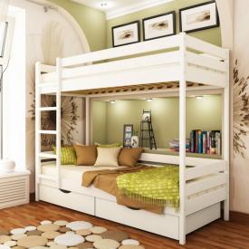 Ліжко двоярусне Естелла Дует 107 90x200 см масив