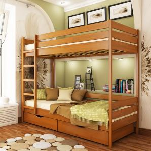 Кровать двухъярусная Эстелла Дуэт 105 80x190 см массив