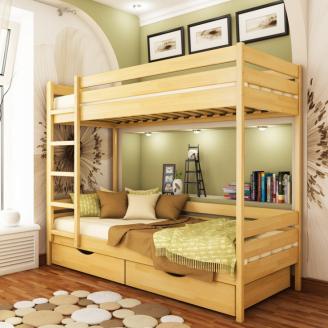 Кровать двухъярусная Эстелла Дуэт 102 90x200 см массив