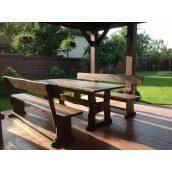 Комплект меблів з дерева для майданчика під мангал на дачі