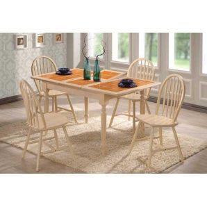 Обеденный стол ONDER MEBLI СТ 364560 беленый дуб
