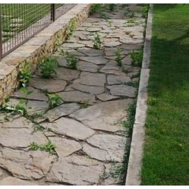 Тротуарный камень ALEX Group Закарпатский андезит 5 см оливковый