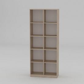 Книжкова шафа Компанит КШ-2 2056x836x360 мм дуб сонома
