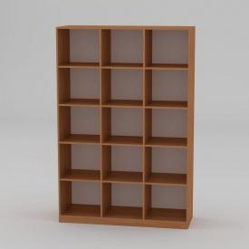 Книжкова шафа Компанит КШ-3 1950x1300x448 мм бук