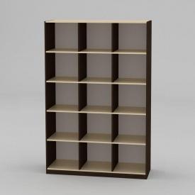 Книжный шкаф Компанит КШ-3 1950x1300x448 мм венге