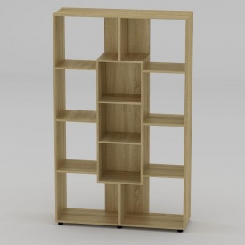 Книжный шкаф Компанит КШ-4 1796x1100x350 мм дуб сонома