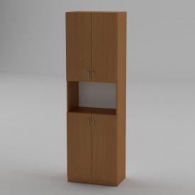 Книжкова шафа Компанит КШ-5 1950x600x366 мм бук