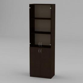 Книжкова шафа Компанит КШ-6 1950x600x366 мм венге