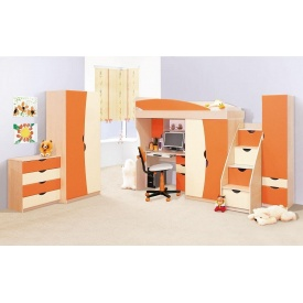 Детская Мир Мебели Саванна оранж/ваниль