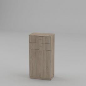 Книжный шкаф Компанит КШ-14 1200x604x370 мм дуб сонома