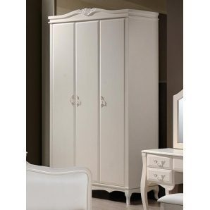 Шкаф Domini Богемия 3-х дверный 1310х540х1990 мм античный белый