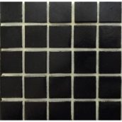 Мозаїка VIVACER FA 51 для ванної кімнати на папері 32,7x32,7 см чорна