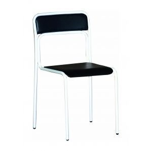Офисный стул АМF Аскона Кожзам черный 470х490х810 мм белый лак