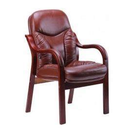 Крісло AMF Буффало CF шкіра Люкс темно коричнева 62x62x98 см коньяк