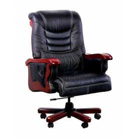 Крісло AMF Монреаль DT шкіра Люкс чорна 75x75x122 см