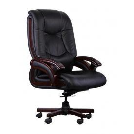 Крісло AMF Ванкувер DT шкіра Люкс чорна 70x70x114 см