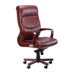 Кресло AMF Монтана НВ кожа Люкс коричневая 68x68x120 см