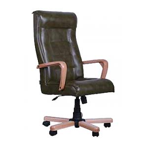 Кресло AMF Кинг Флеш ANYFIX кожа Люкс черная 63x84x119 см коньяк
