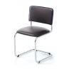 Офісний стілець АМF Сильвія Кожзам чорний 570х470х870 мм хром