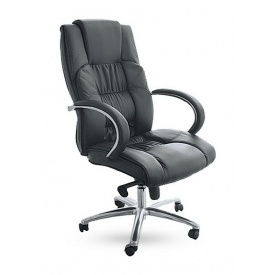 Крісло AMF Монако НВ PU чорний 66x70x110 см