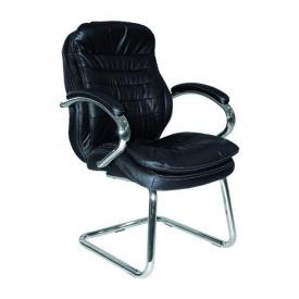 Крісло AMF Валенсія CF шкіра чорна 63x68x105 см хром
