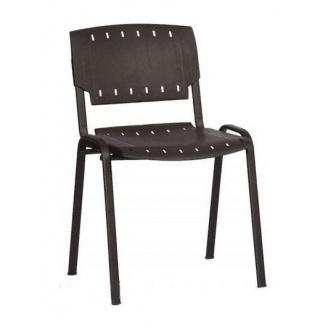 Офісний стілець АМF Призма пластик чорний 540х635х825 мм чорний