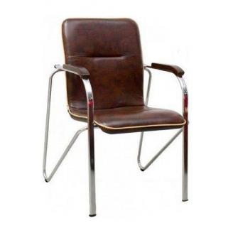 Офісний стілець AMF Самба горіх Мадрас дк браун 610х615х890 мм хром