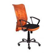 Офісне крісло AMF Аеро HB Line сидіння Сітка чорна / спинка Сітка помаранчева 635х750х1170 мм