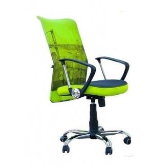 Офісне крісло AMF Аеро HB Line сидіння Сітка сіра / спинка Сітка лайм 635х750х1170 мм