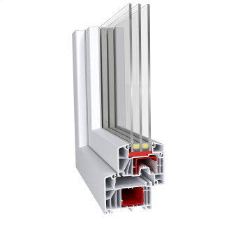 Метаттлопластиковое окно Aluplast IDEAL 7000
